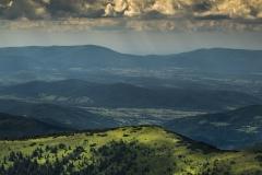 Widok na Skrzyczne z Babiej Góry