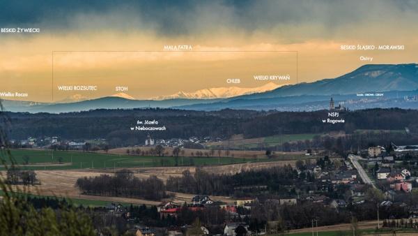 Widok na Małą Fatrę na Słowacji  - 111 km