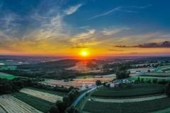 Zachód słońca w Pogrzebieniu