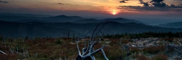 Zachód słońca na Małym Skrzycznym