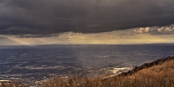 Widok z drogi na Czantorię Małą około 120km