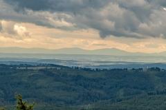 Widok na Beskid Śląski, Żwyiecki i Morawski