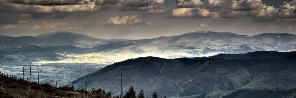 Widok na Babią górę oraz Pilsko